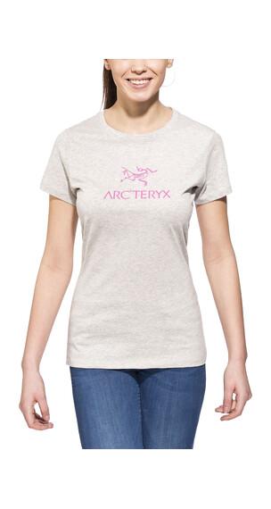 Arc'teryx Arc'word SS T-Shirt Women's Heathered Lt Grey/Pink